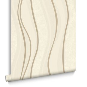Elan Cream and Gold Wallpaper, , large