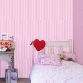 Classic Stripe Blossom Wallpaper