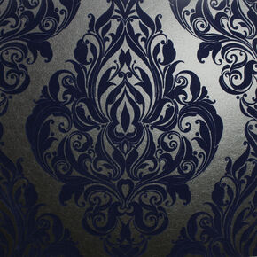 Kinky Vintage Rhythm In Blue Wallpaper, , large