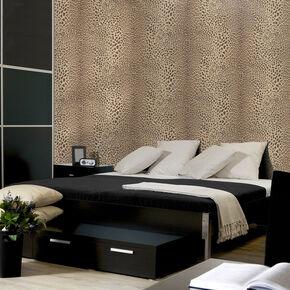 Leopard Beige Wallpaper, , large