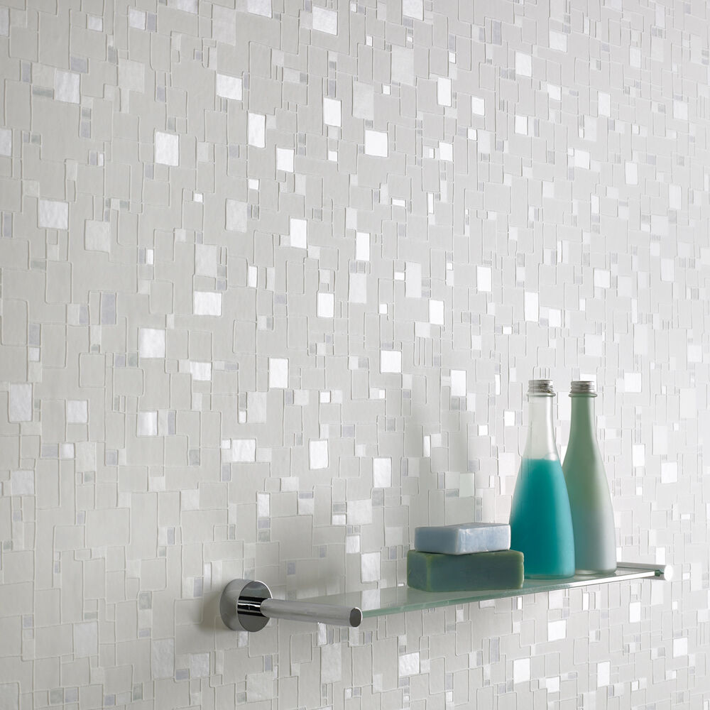 ... Large Spa White And Light Blue Wallpaper, ...