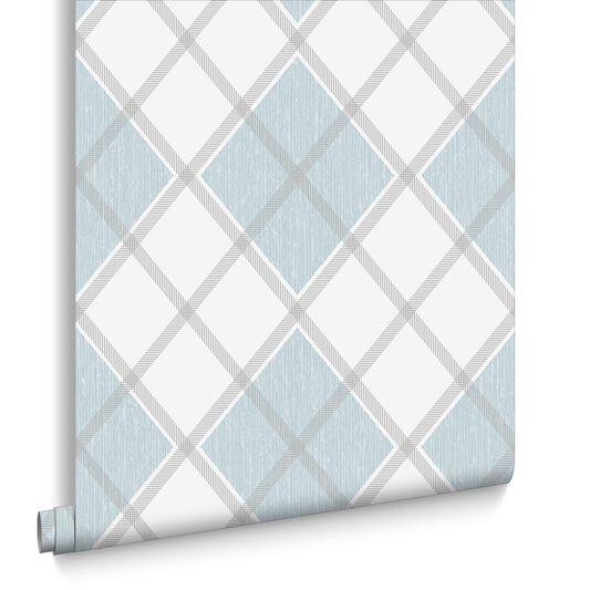 Argyle Skye Blue Wallpaper, , large