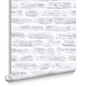 White Realistic Brick, , large