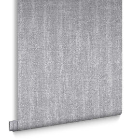 Chenille Grey & Silver Behang, , large