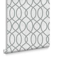 Knightsbridge Flock Pale Grey Wallpaper, , large