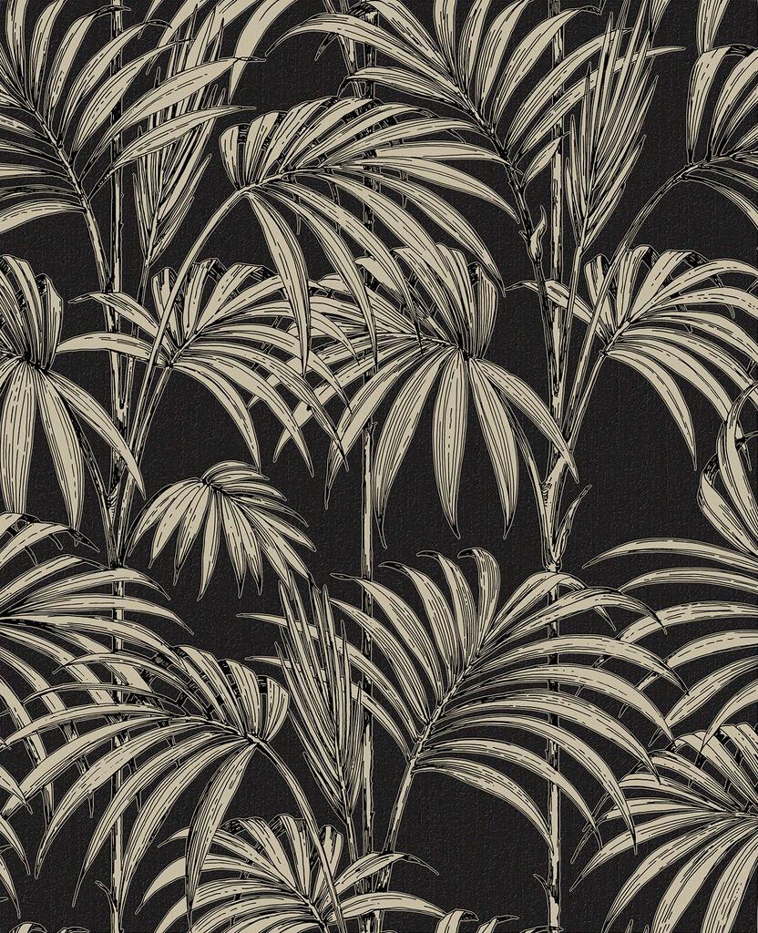 Gold Wallpaper Canada: Honolulu Black And Gold Wallpaper