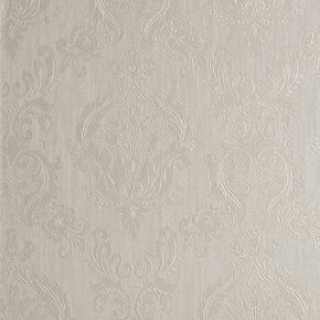 Damask Cream Shimmer Wallpaper, , large