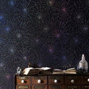 Cobweb Moonlight Wallpaper, , large
