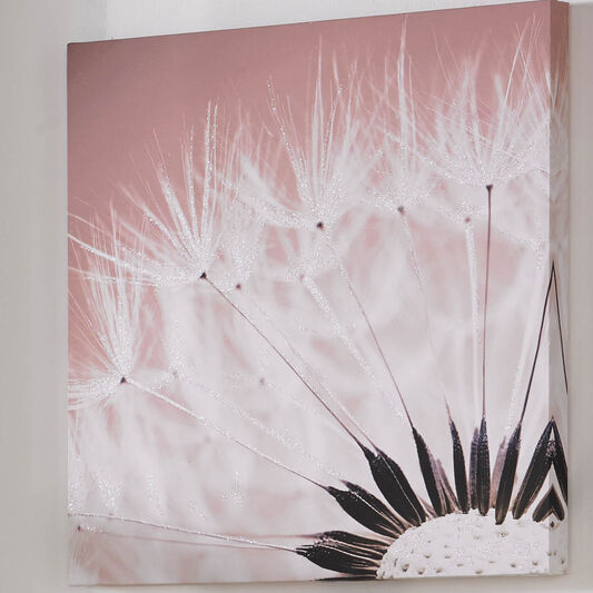 Delicate Dandelion With Glitter Printed Canvas, , large