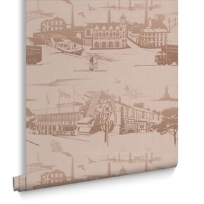 Northern Toile Gold Wallpaper, , large