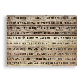 Life Is Beautiful Print On Wood, , large