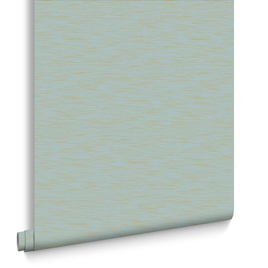 Breeze Aqua and Gold Wallpaper, , large