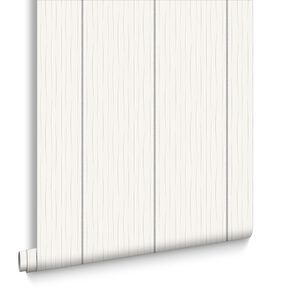 Stria Stripe White and Silver Wallpaper, , large