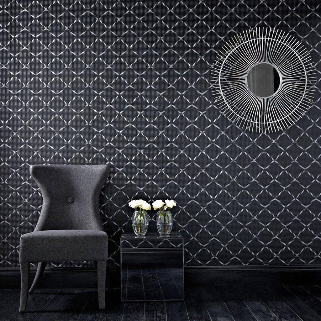 Black Wallpaper For Walls removable wallpaper | temporary wallpaper | apartment & renters