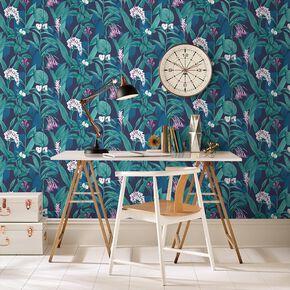 Botanical Midnight Wallpaper, , large