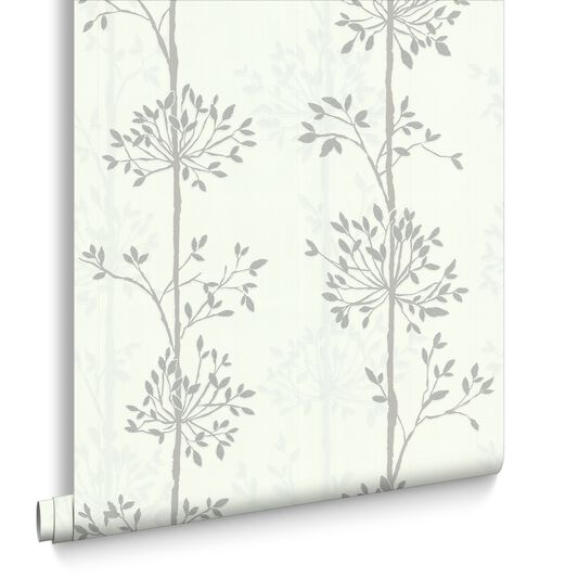 Domaniale Paillette Blanc Mica and Gris Wallpaper, , large
