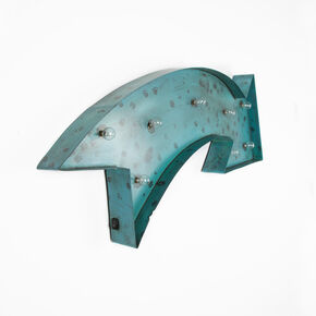 Lit Arrow Metal Art, , large