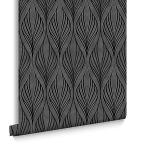 Optimum Black and Silver Wallpaper, , large