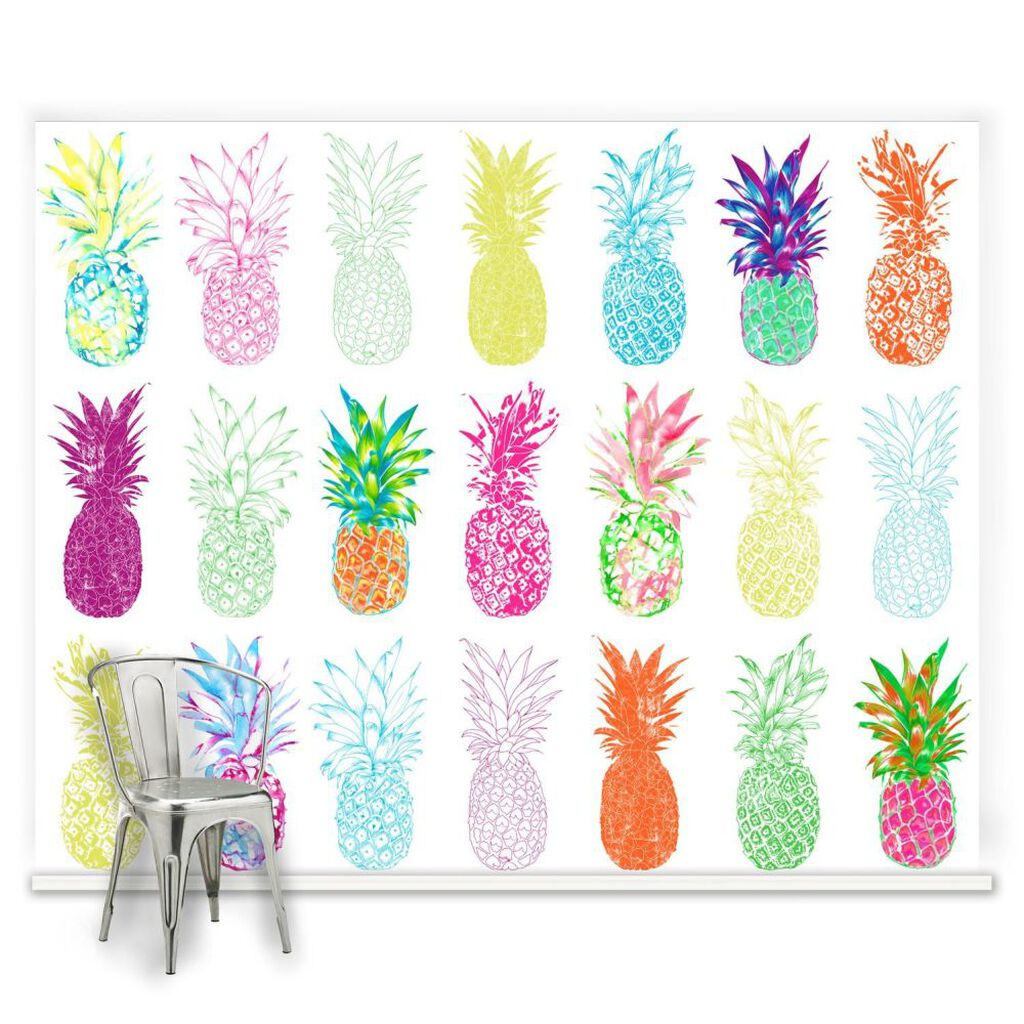 childrens wall murals kids wallpaper mural graham brown pineapple craze mural large
