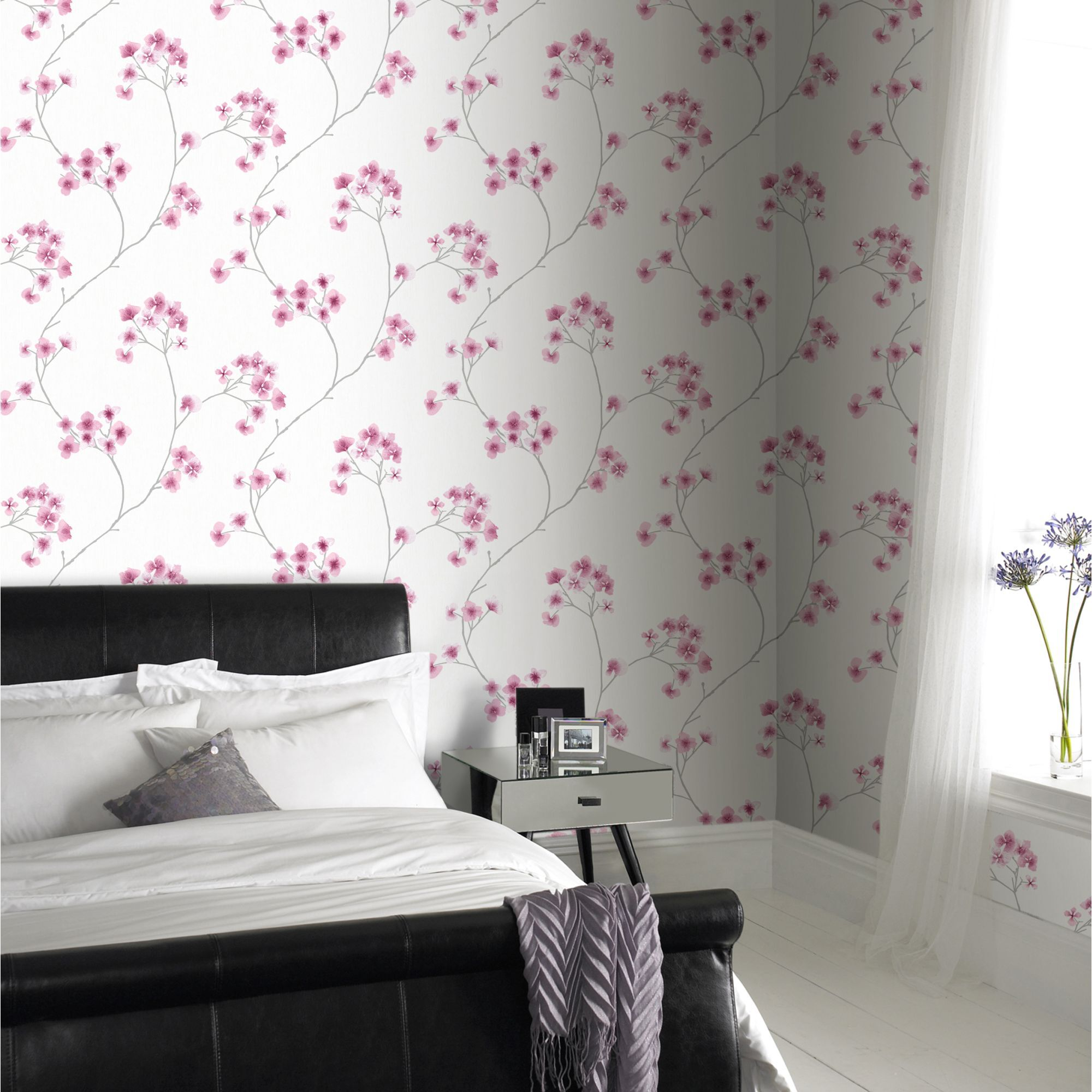 ... Large Radiance White And Pink Wallpaper, ...