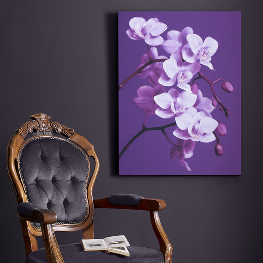 Purple Orchid Printed Canvas, , large