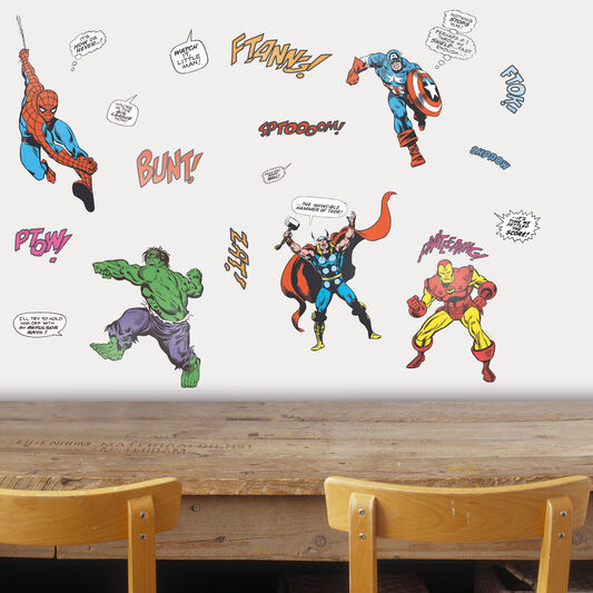 stickers marvel pour petit mur grahambrownfr. Black Bedroom Furniture Sets. Home Design Ideas