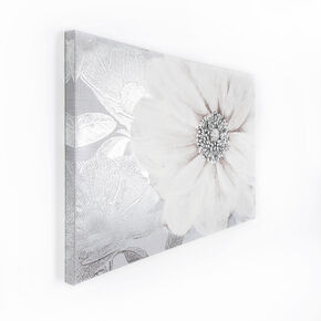 Grey Bloom Printed Canvas, , large
