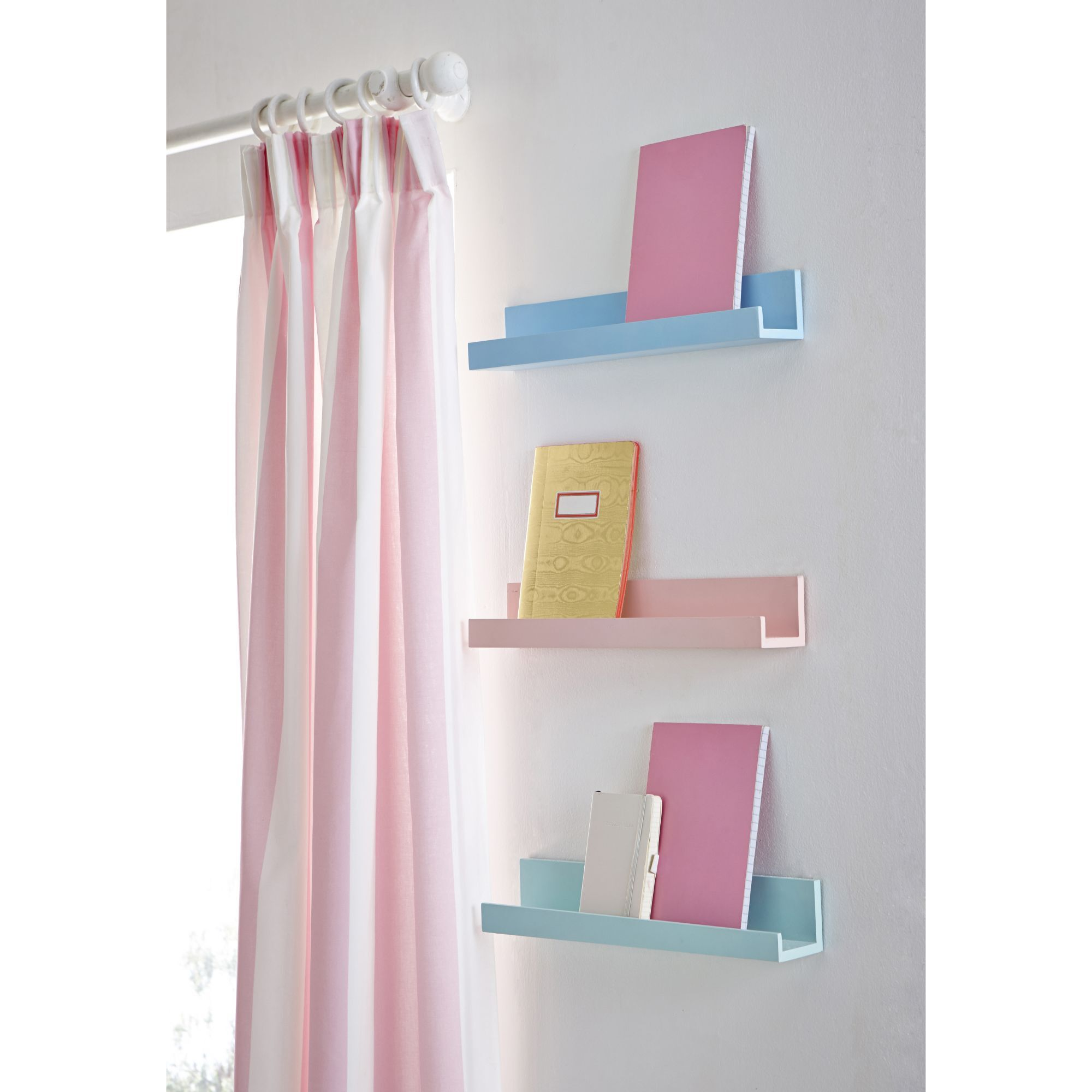 Pink And White Curtains, ...