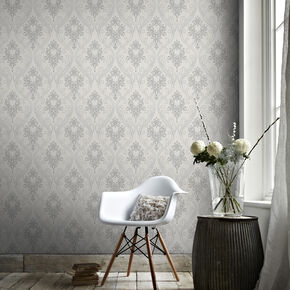 Royale Grey Wallpaper, , large