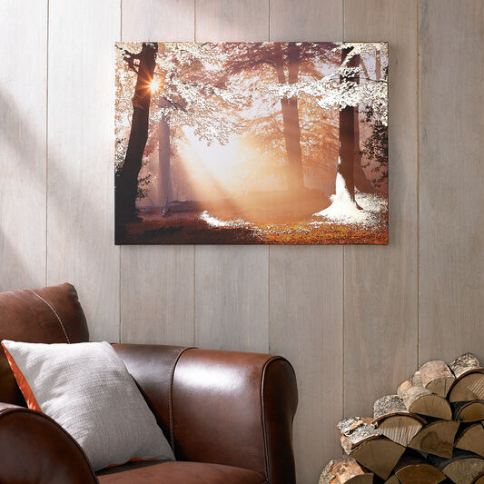 Metallic Forest Printed Canvas, , large