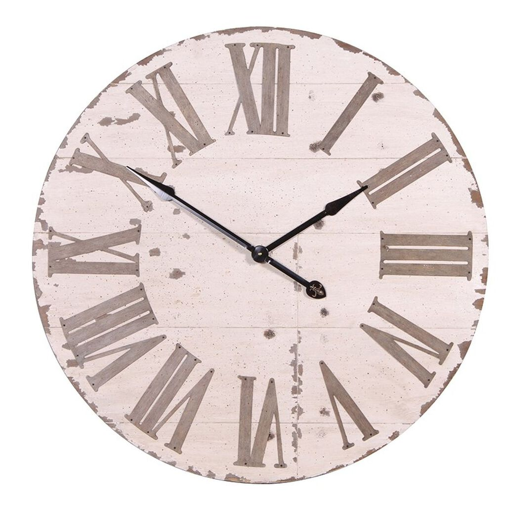 Oversized wall clock rustic cream clock graham brown amipublicfo Image collections