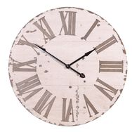 Cream Rustic Oversized Wall Clock, , large
