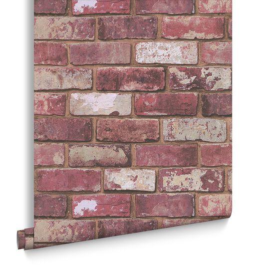Red brick wallpaper grahambrownuk for Brick and wood home designs