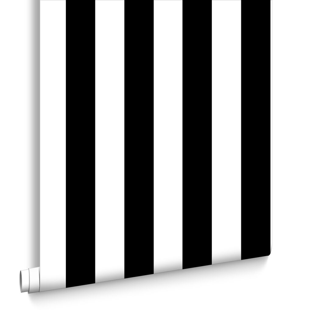 stylish black and white striped wallpaper