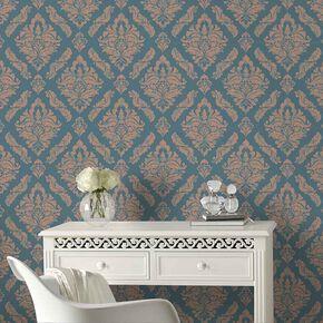 Damaris Turqouise Wallpaper, , large