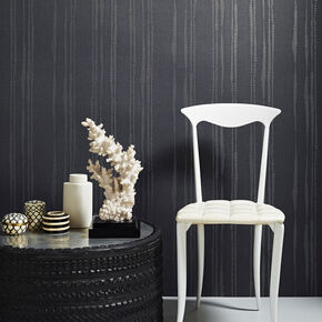 Laddered Stripe Midnight Wallpaper, , large