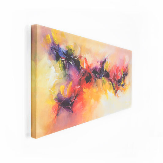 Abstract Scroll Printed Canvas, , large