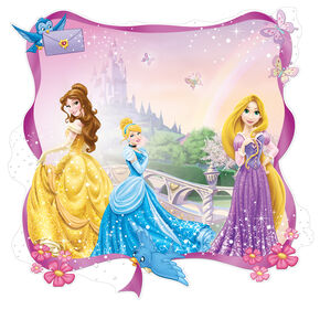 Princess Over the Bed Sticker, , large