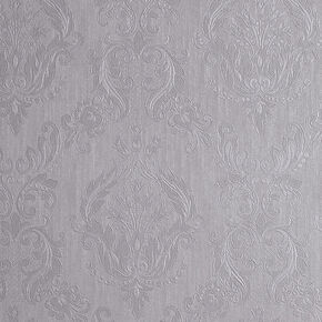 Damask Silver Mist Wallpaper, , large