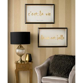 La Vie Est Belle Metallic Framed Art, , large