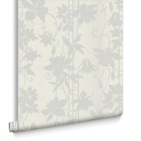 Paradise Garden Marble White Wallpaper, , large