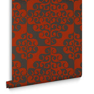Twist Chocolate and Orange Wallpaper, , large