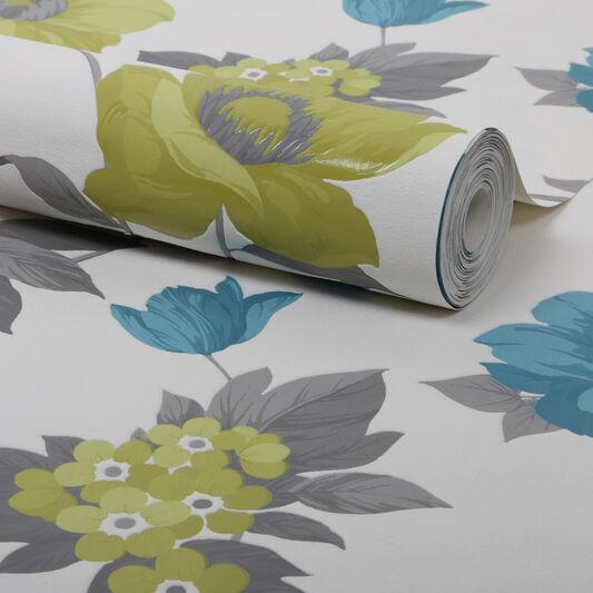 Eden Lime Wallpaper, , large