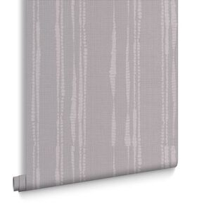 Laddered Stripe Soft Grey Wallpaper, , large