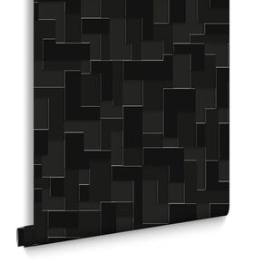 Black Wallpaper Plain Patterned Wallpaper Dark - Wallpaper for walls black and white