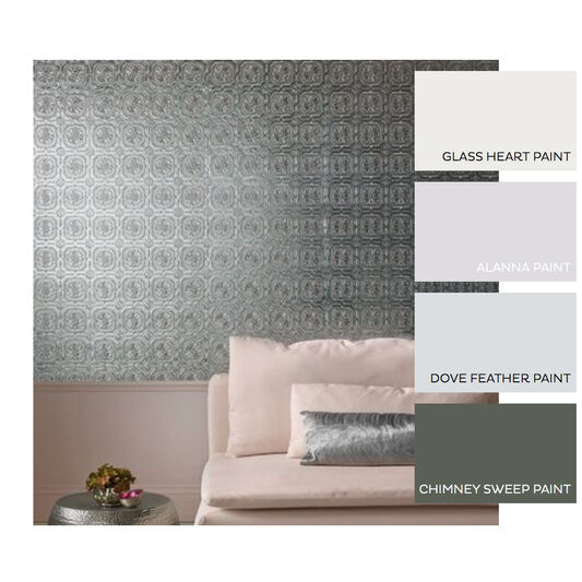 Metallic tile wallpaper grahambrownuk for Ceiling wallpaper