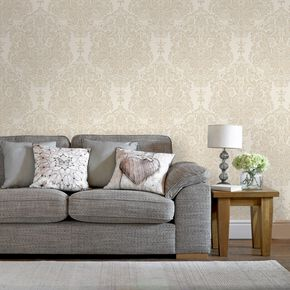Melody Neutral Wallpaper, , large