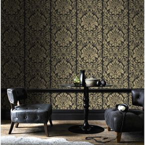 Gloriana Gold Wallpaper, , large
