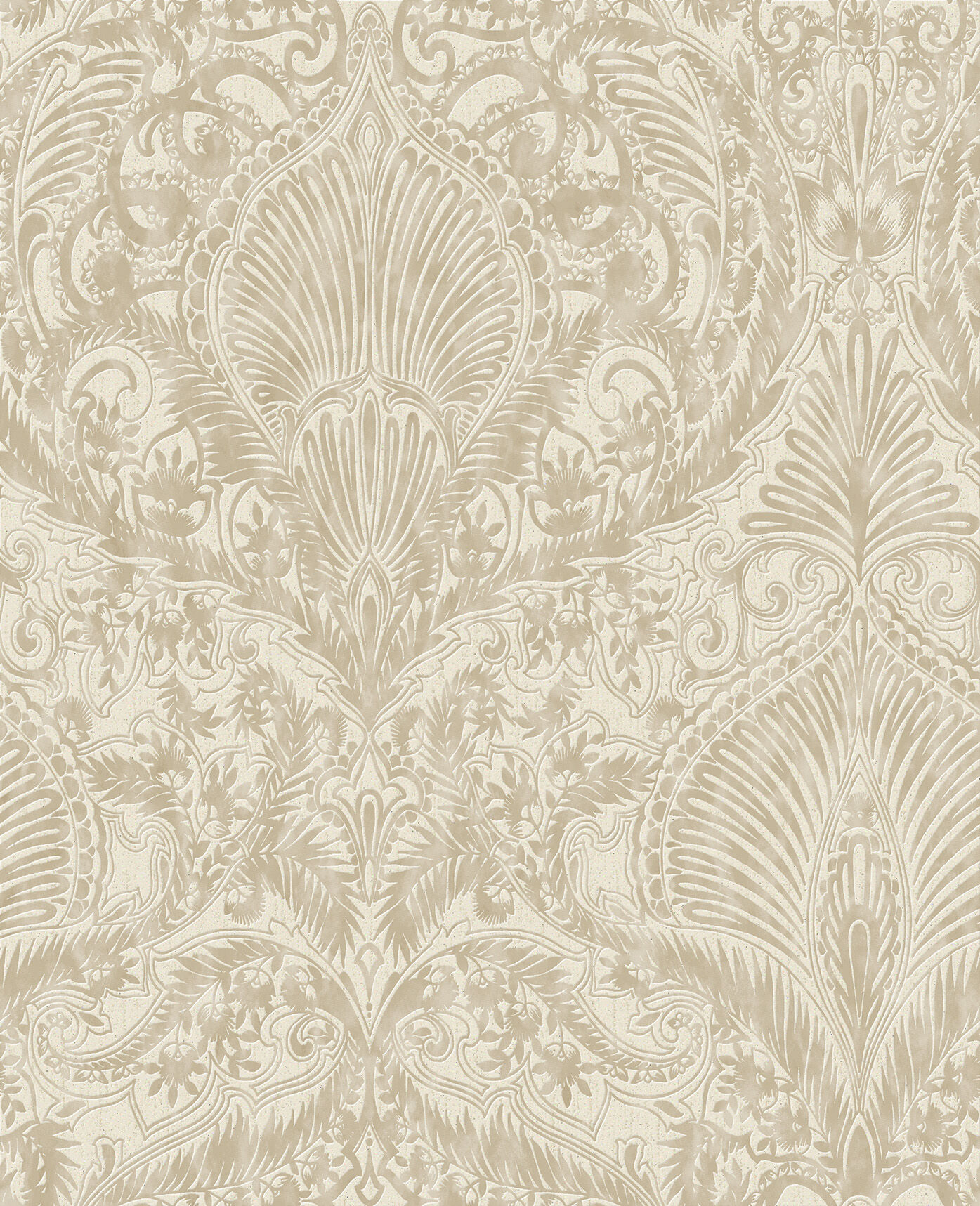 Burlesque Cream and Gold Wallpaper Ornate Wallpaper