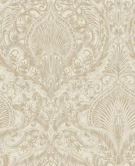 Burlesque Cream And Gold Wallpaper Graham Brown - Brown and cream wallpaper